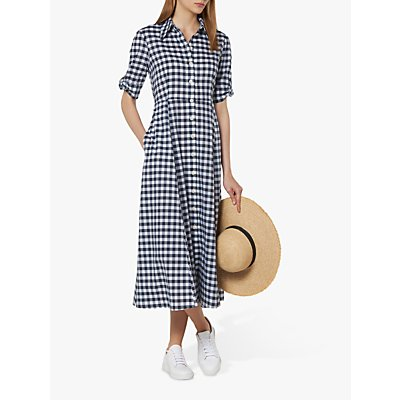 L.K.Bennett Saffron Shirt Dress, Navy/White