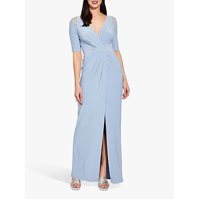 Adrianna Papell Plus Size Jersey Dress, Ice Blue