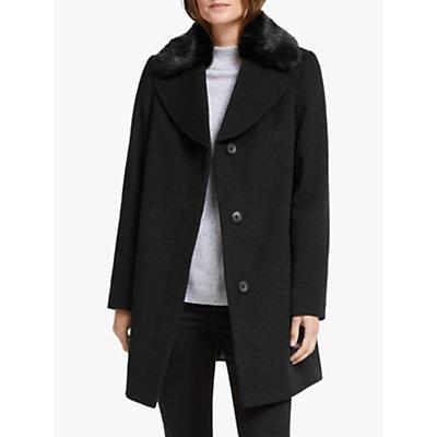 John Lewis & Partners Detachable Collar Swing Pea Coat