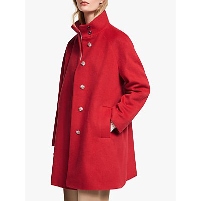 John Lewis & Partners Funnel Neck Swing Coat