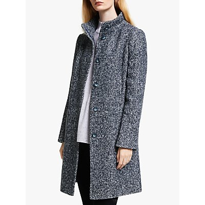 John Lewis & Partners Funnel Neck Coat