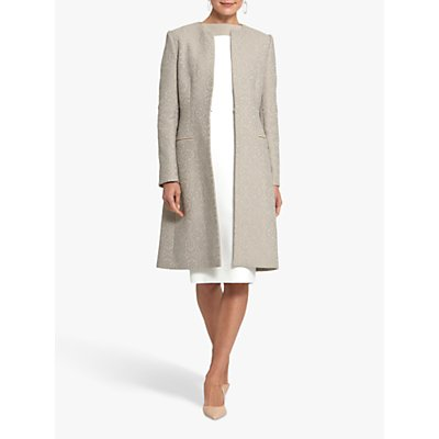 Helen McAlinden Collarless Lace Coat, Mink