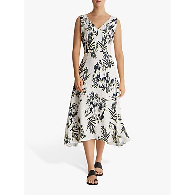 Fenn Wright Manson Fern Petite Dress, White/Navy