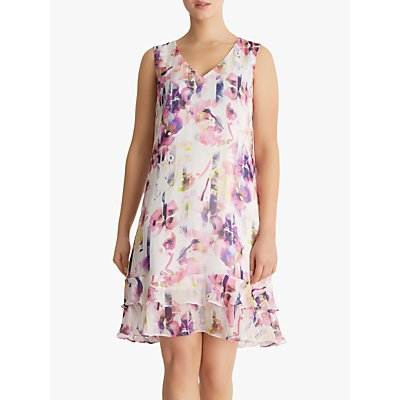 Fenn Wright Manson Petite Romany Floral Ruffle Dress, Multi