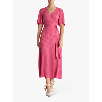 Fenn Wright Manson Fleur Petite Wrap Dress, Fuchsia