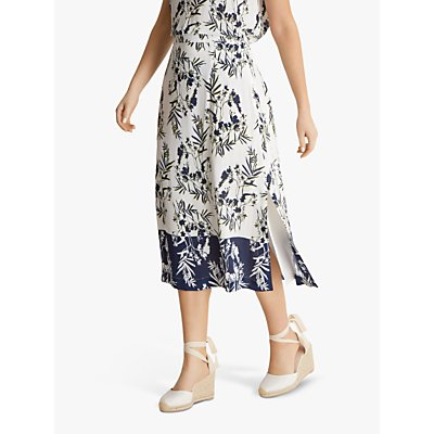Fenn Wright Manson Fern Petite Skirt, Ivory/Navy