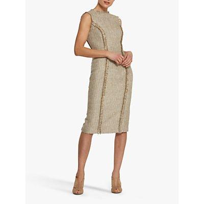 Helen McAlinden Rhonda Boucle Texture Dress, Beige
