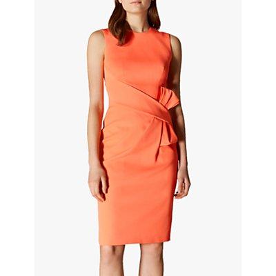 Karen Millen Bow Waist Pencil Dress, Coral