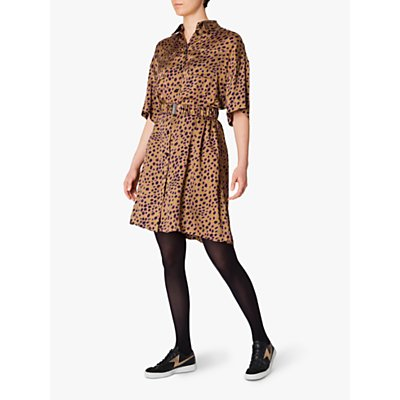 PS Paul Smith Leopard Print Dress, Brown/Multi