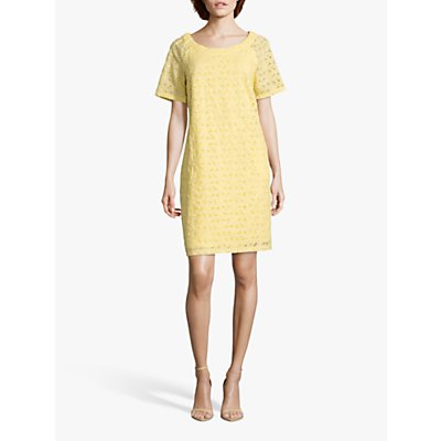 Betty Barclay Broderie Anglaise Cotton Dress, Sunshine
