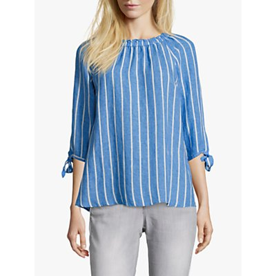 Betty Barclay Tie Sleeve Striped Blouse, Blue/White
