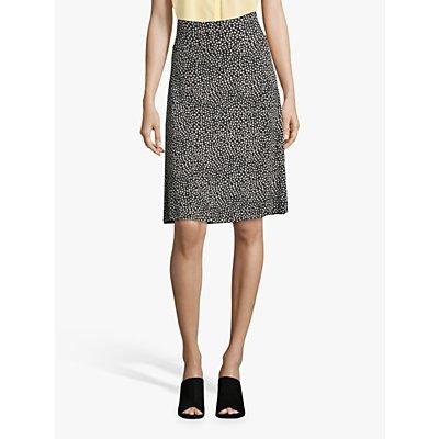 Betty Barclay Paint Dot Print A-Line Skirt, Dark Blue/Cream