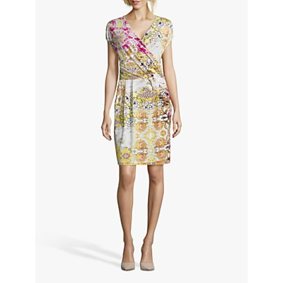 Betty Barclay Floral Print Dress, Cream/Pink