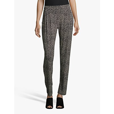 Betty Barclay Slip On Spot Print Jersey Pants, Dark Blue/Cream