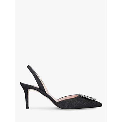 SJP by Sarah Jessica Parker Mabel Glitter Slingback Court Shoes, Black Multi