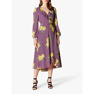 Karen Millen Geometric Floral Dress, Multi