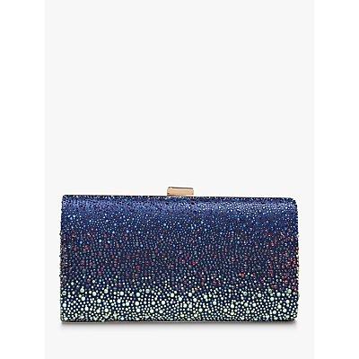 Carvela Lovebird Embellished Clutch, Navy Blue