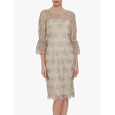 Gina Bacconi Theora Floral Dress, Butter Cream