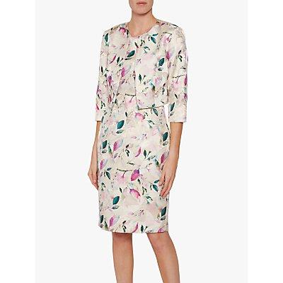 Gina Bacconi Katalia Jacquard Dress, Ivory/Multi