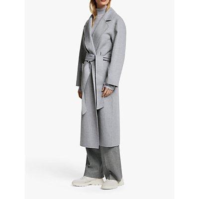 John Lewis & Partners Wool Blend Patch Pocket Maxi Double Faced Wrap Coat