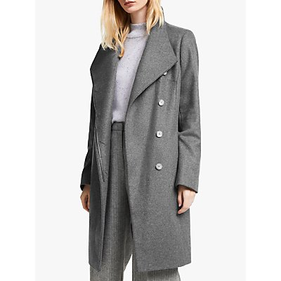John Lewis & Partners Tailored Funnel Neck Coat