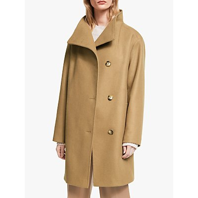 John Lewis & Partners Grown On Funnel Neck Coat