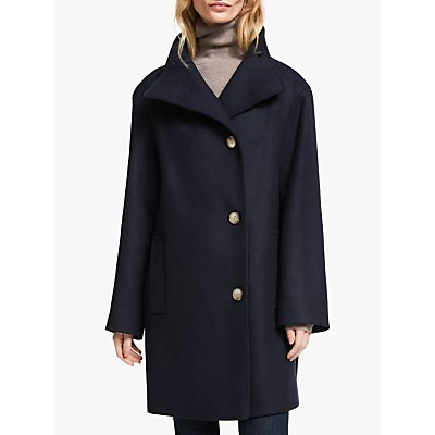 John Lewis & Partners Wool Blend Grown On Funnel Neck Coat