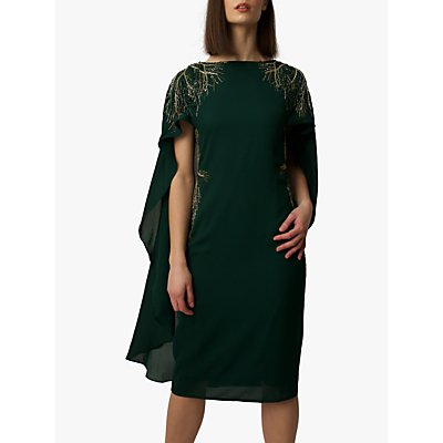 Raishma Cape Dress, Green