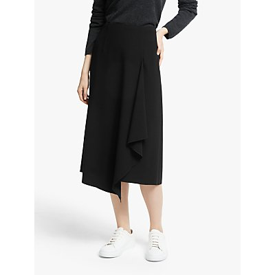 John Lewis & Partners Asymmetric Front Midi Skirt