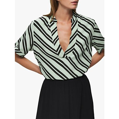 Selected Femme Pixie Short Sleeve Top, Laurel Green/Rosin