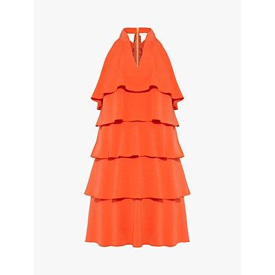 Damsel in a Dress Lenia Ruffle Dress, Orange