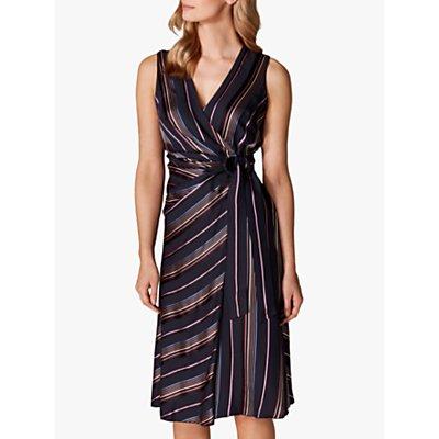 Karen Millen Tie Waist Midi Dress, Multi