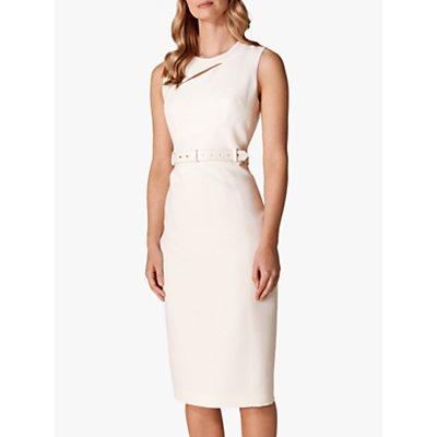 Karen Millen Slashed Neckline Dress, Ivory