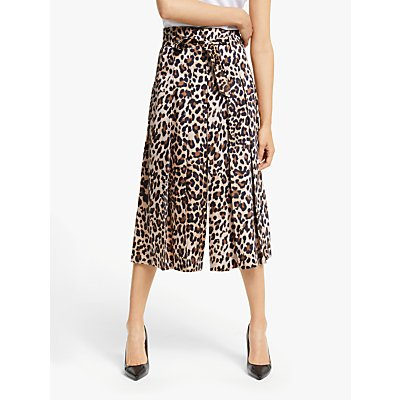 Marella Natale High Waist Leopard Trousers, Brown