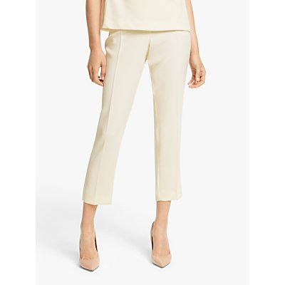 Marella Zambia Elasticated Back Ankle Grazer Trousers, Cream