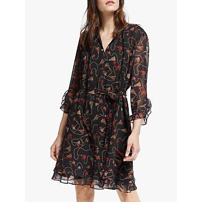 Marella Orda Printed Dress, Black/Multi
