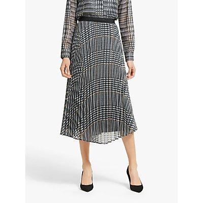Marella Shaila Metallic Pleated Skirt, Grey