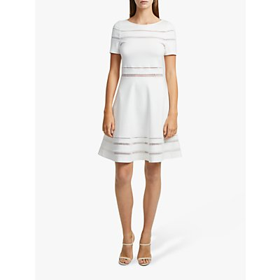 French Connection Scille Lula Short Sleeve Dress, Summer White