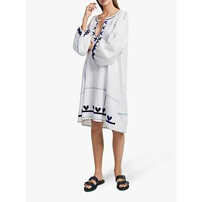 French Connection Cotula Folk Dress, Summer White