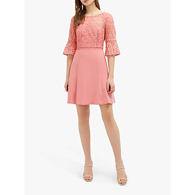 French Connection Whisper Ruth Round Neck Dress