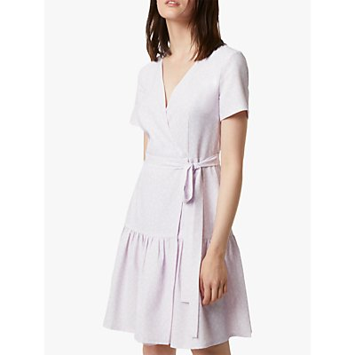 French Connection Mono Wrap Dress, Lavender Frost
