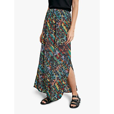 hush Paula Animal Chevron Print Maxi Skirt, Multi