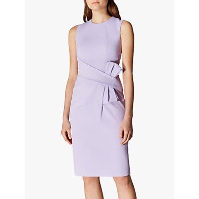 Karen Millen Bow Front Dress, Lilac