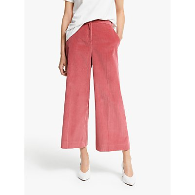 Weekend MaxMara Padre Corduroy Wide Leg Trousers, Pink