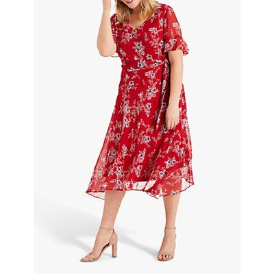 Studio 8 Hasina Floral Dress, Red/Multi