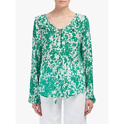 Lily and Lionel Eden Forget Me Knot Print Top, Green