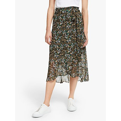 Second Female Wise Midi Skirt, Black/Multi