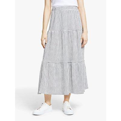 Y.A.S Valeria Midi Skirt, Blue Gingham