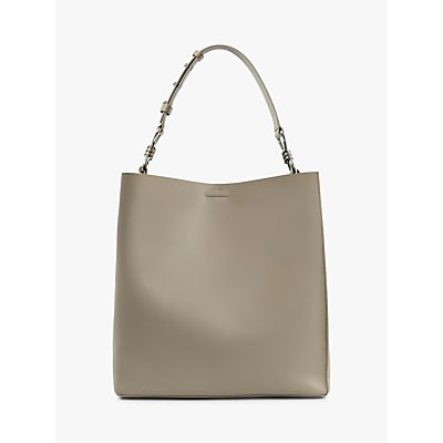 AllSaints Captain Leather North South Tote Bag, Dune