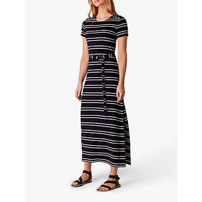 Karen Millen Striped Maxi Dress, Blue/Multi